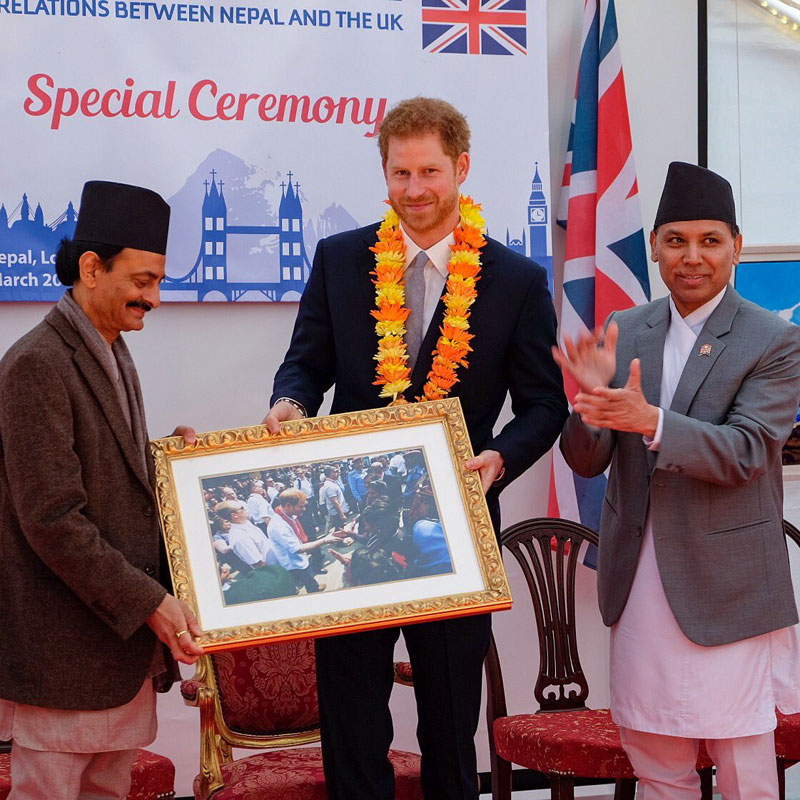 Applauding Nepali hospitality Prince Harry urges people to visit Nepal