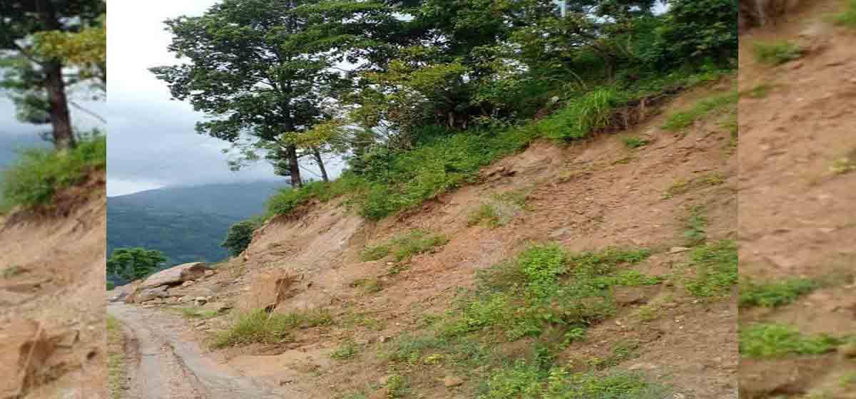 Flood, landslides obstruct Helambu Highway