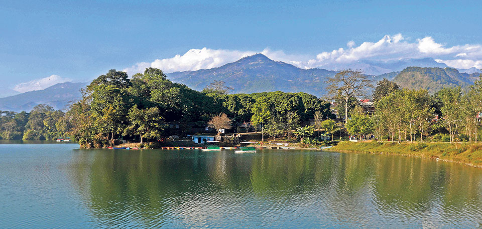Fewa Lake's new area is 5.72 square kilometers