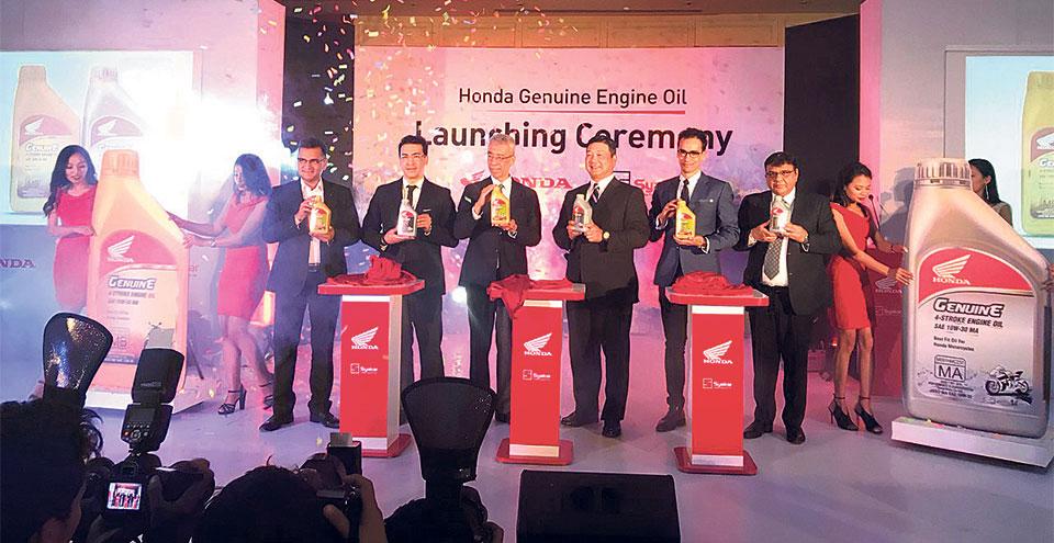 Syakar Trading launches 'Honda Genuine Engine Oil'