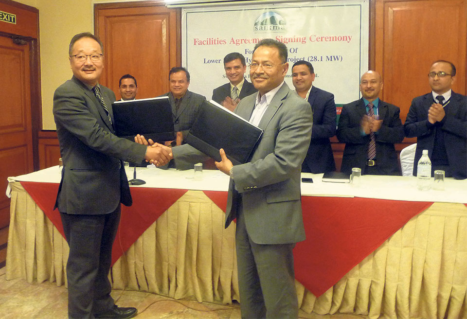 Funding agreement for Lower Likhu Hydro project