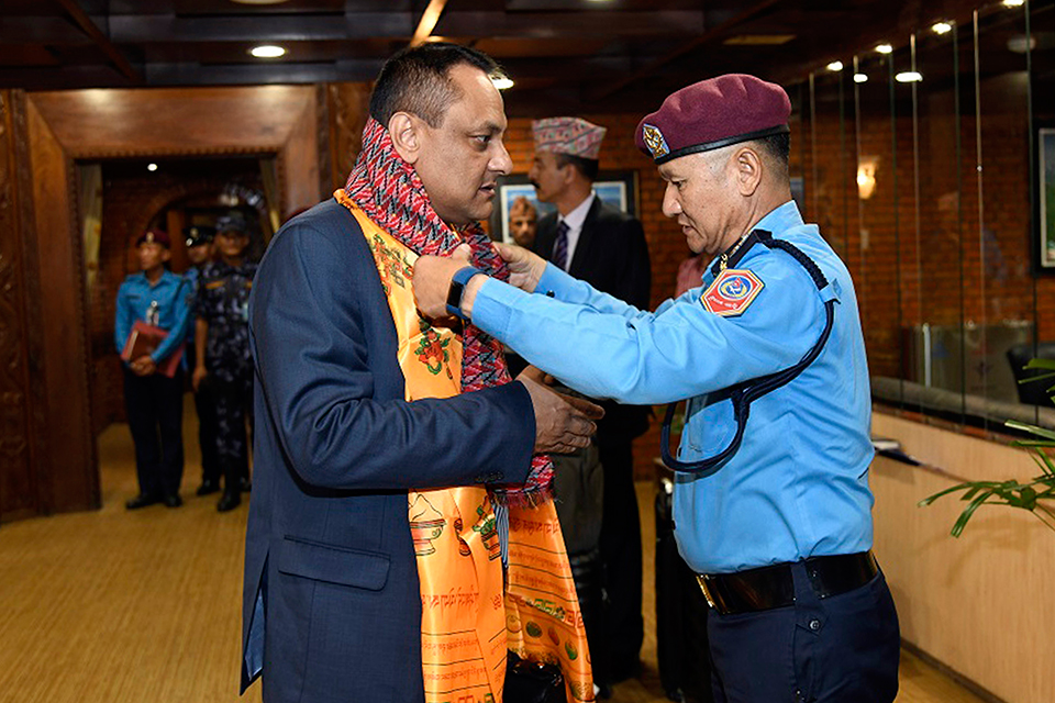 Police Chief Khanal leaves for Chile