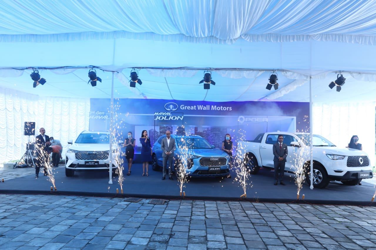 Great Wall Motors launches three new models of cars in Nepali market