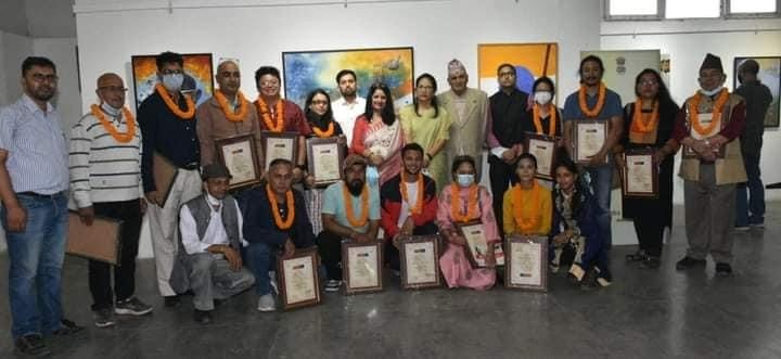 Painting exhibition 'Mahatma Gandhi's Principles for a Better World' on display
