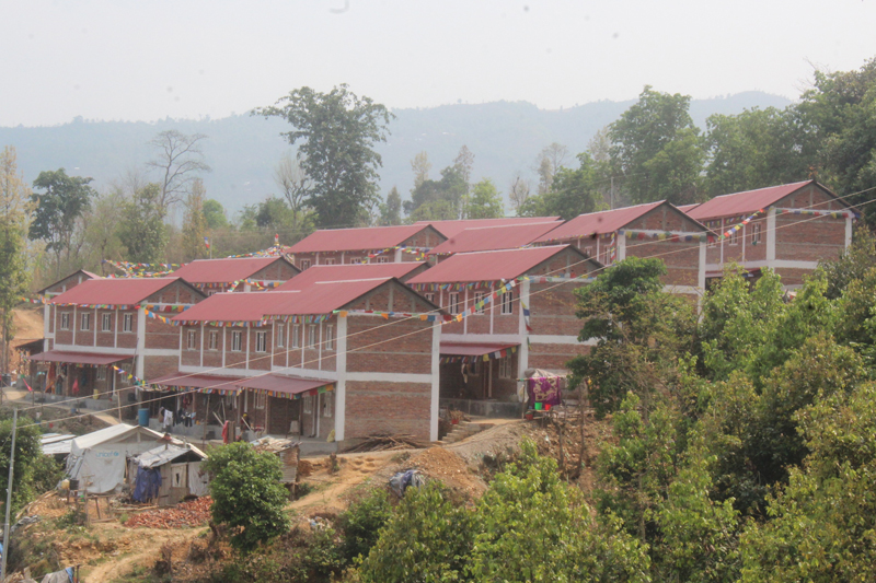 Construction of model settlement on sole effort (Photos)