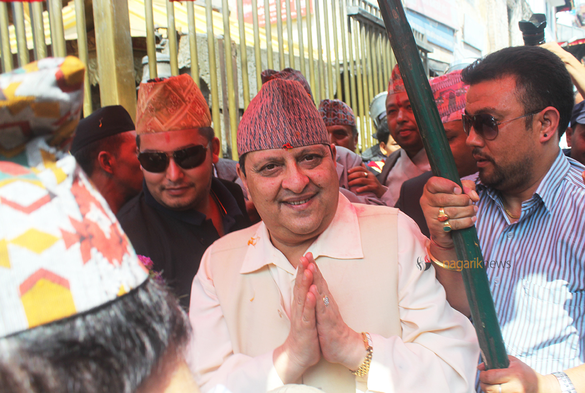 In capacity of a King, Gyanendra offers sword at Pachali Bhairav Temple (photo/video)