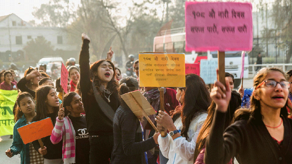 Rally organized  to mark International Women's Day (photo feature)