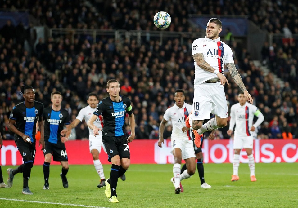Icardi strikes again as PSG beat Brugge to reach last 16