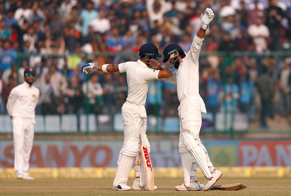 India 371-4 vs Sri Lanka after huge Kohli, Vijay partnership
