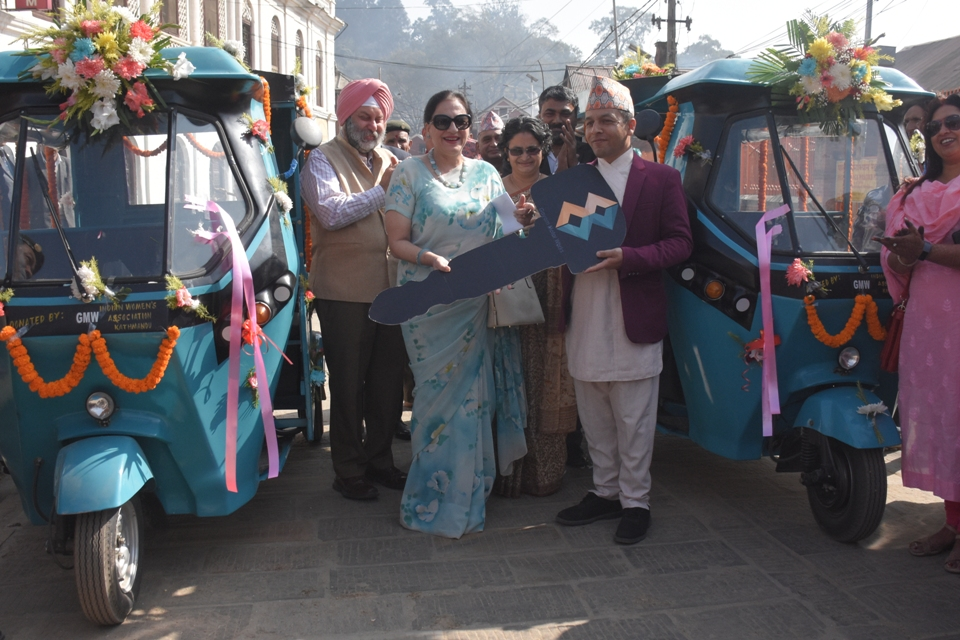 Indian Women's Association hands over two electric vehicles to Nepal's PADT