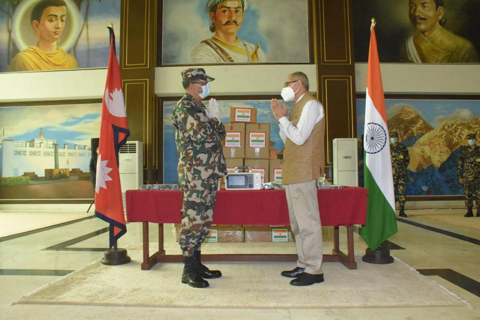 Indian Army gifts ten ICU ventilators to Nepal Army