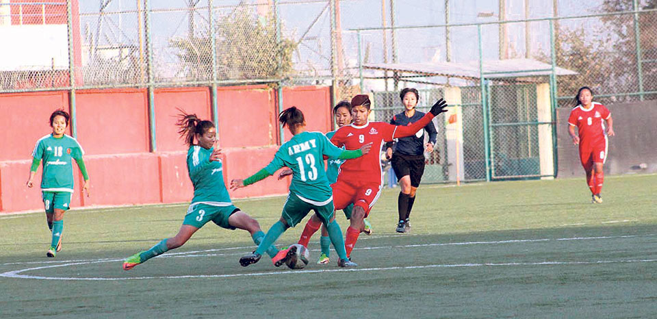 APF closer to women's football league title - myRepublica - The New York  Times Partner, Latest news of Nepal in English, Latest News Articles