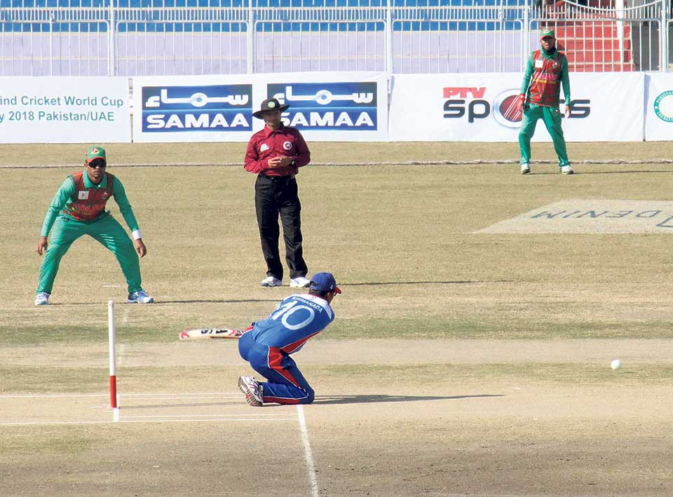 Nepal succumbs to second defeat in Blind Cricket World Cup