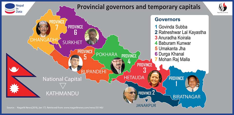 Govt names temporary capitals, governors