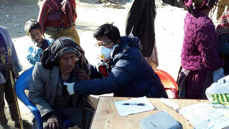 Health service camp and awareness program to control viral flu