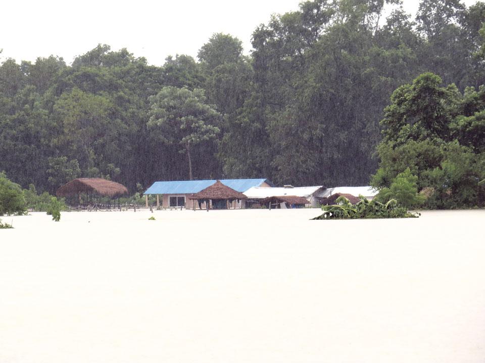 Flood wreaks havoc in Sauraha