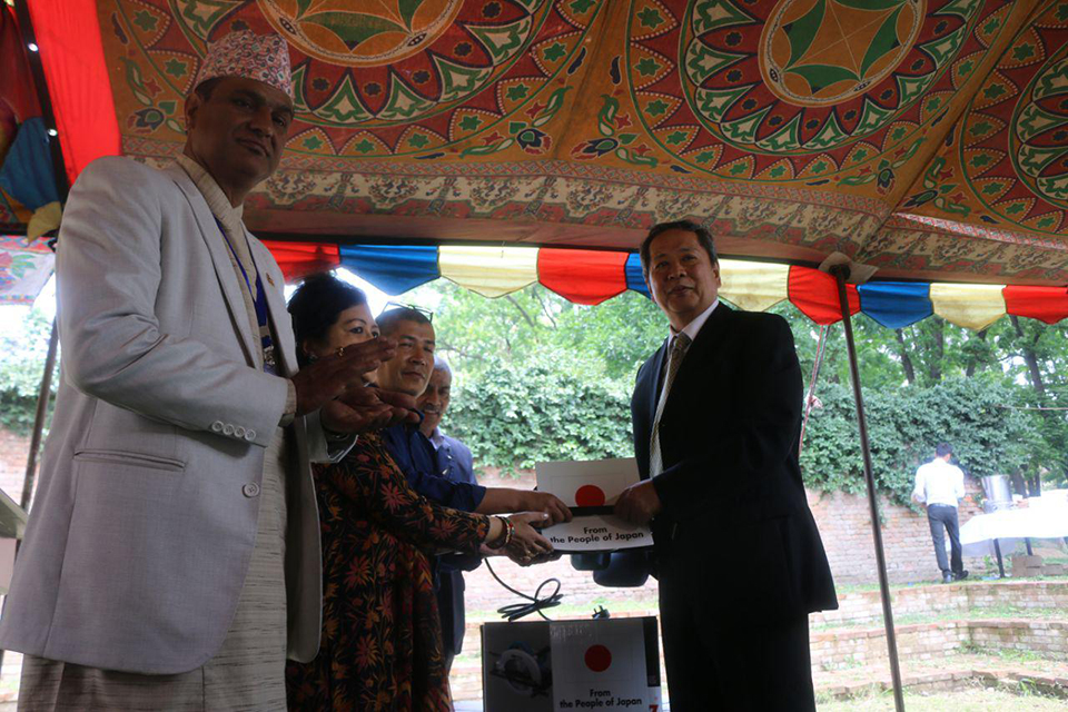 Japan provides Rs 8 m  for reconstruction of Patan Durbar Square