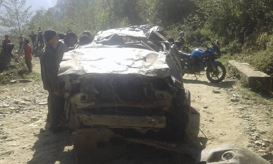 1 among those  injured in  Dolakha road mishap passes away (update)