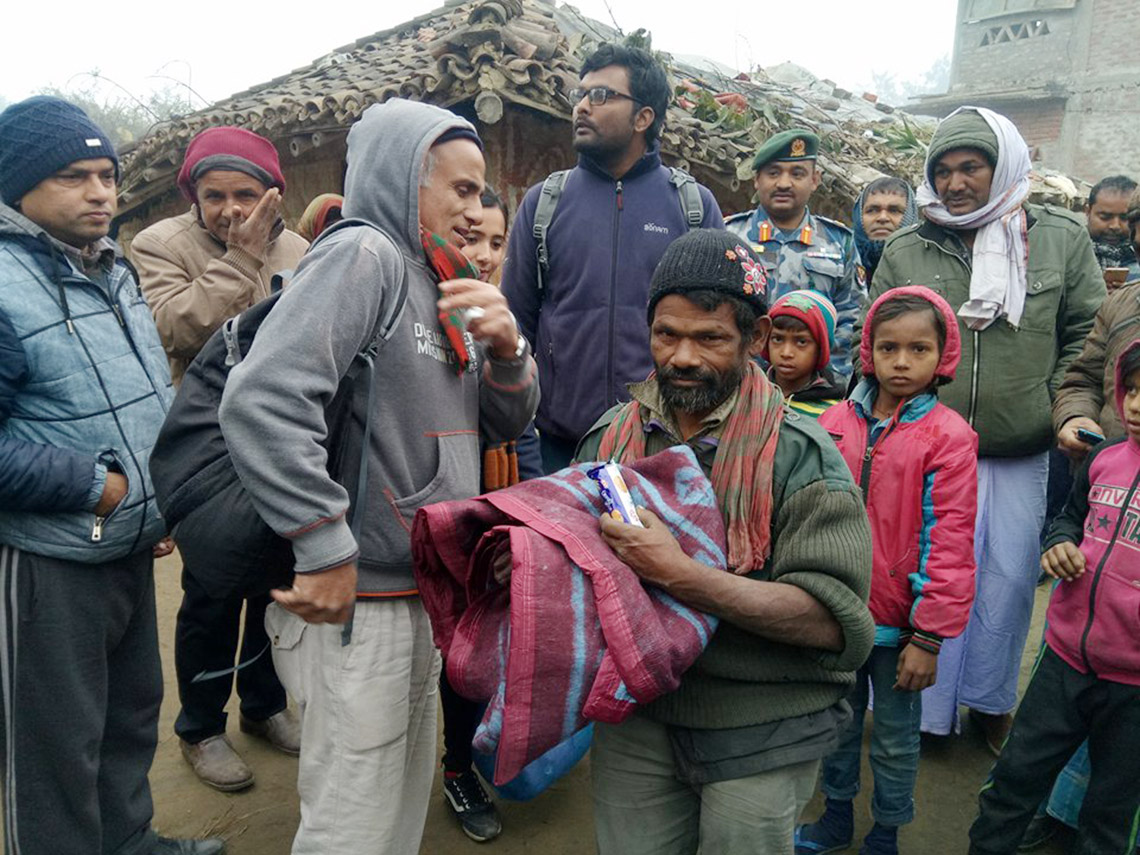 Dr KC sharing warmth in Dalit community (Photo feature)