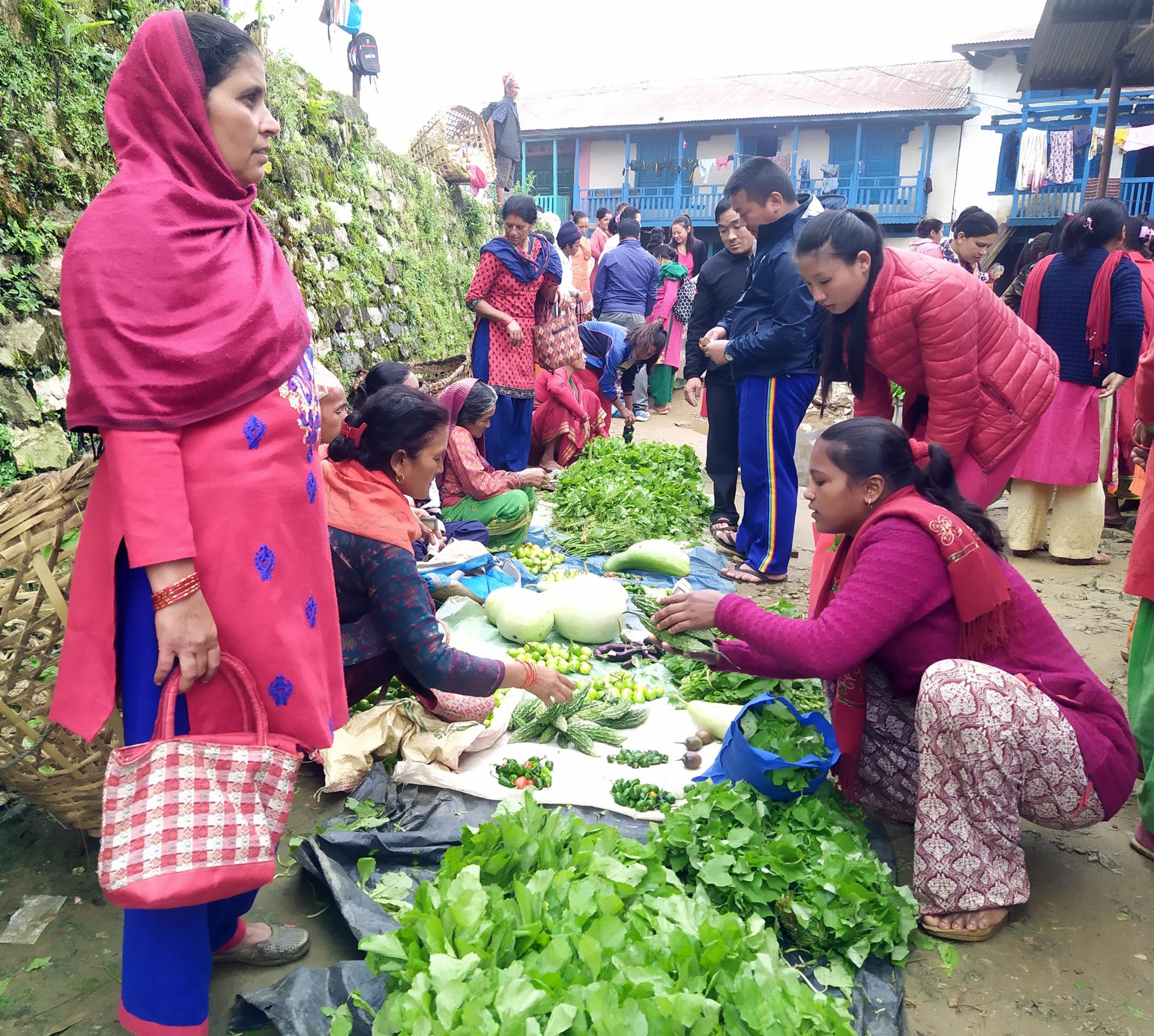 Glimpses of Hatiya market in Khotang