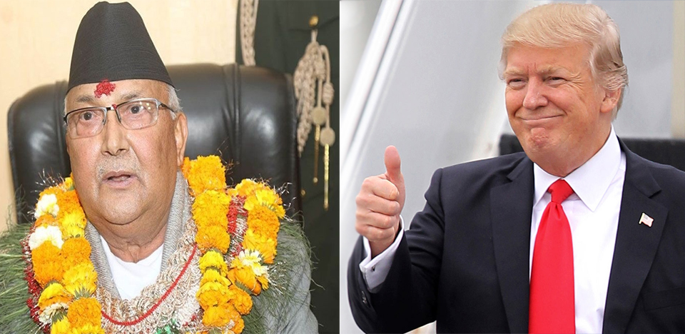 Trump willing to partner with Oli to promote stability, governance and growth