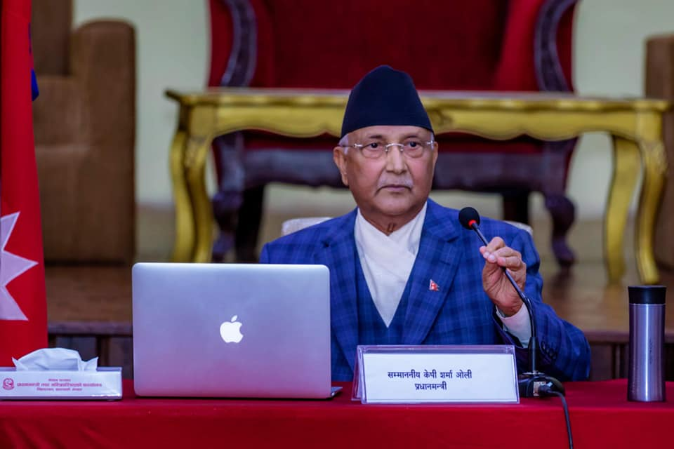 PM Oli summons cabinet meeting