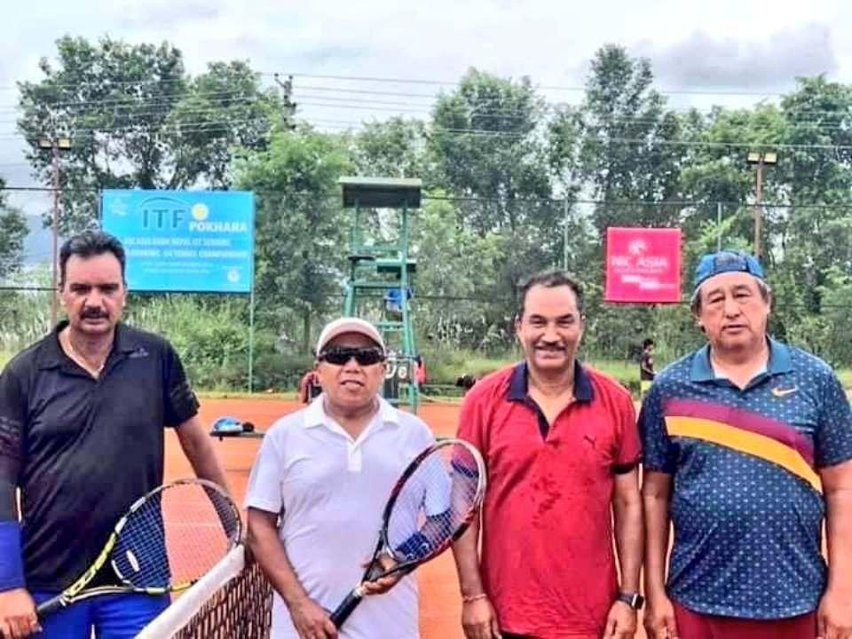 RPP Chair Thapa wins the title of ITF Senior Tennis Tournament