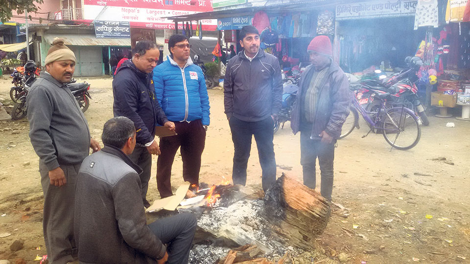 Kailali locals struggle to cope with cold weather