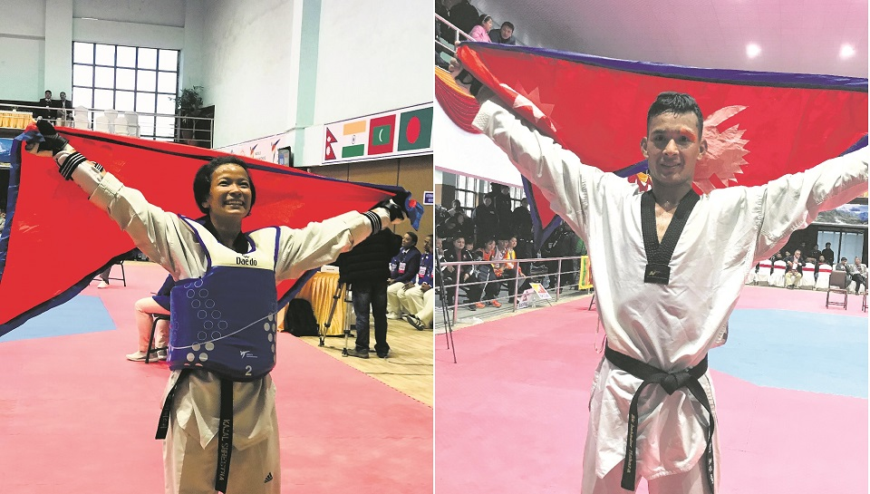 Shrestha defies odds to win gold,Mahara bags another