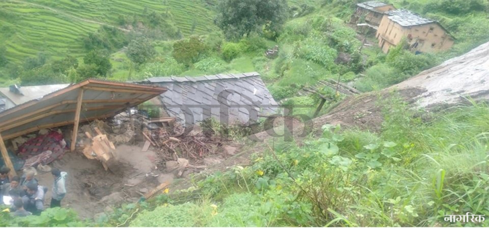 Six members of same family killed as landslides sweep away their house in Kalikot