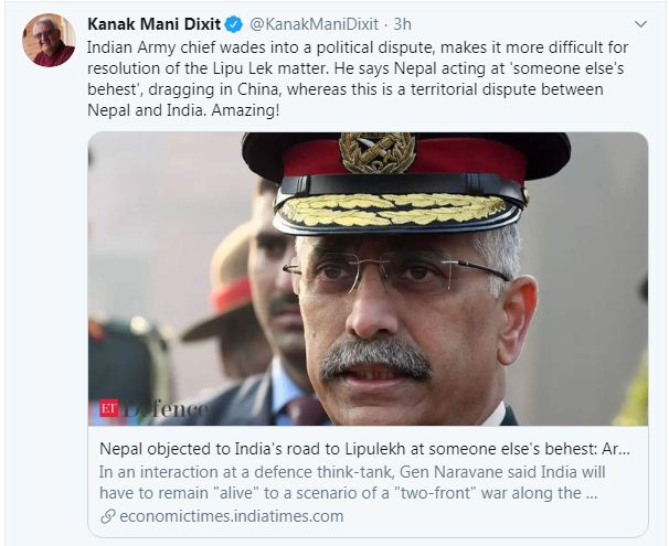 Indian Army chief's controversial remark on Lipu Lekh faces sharp ...