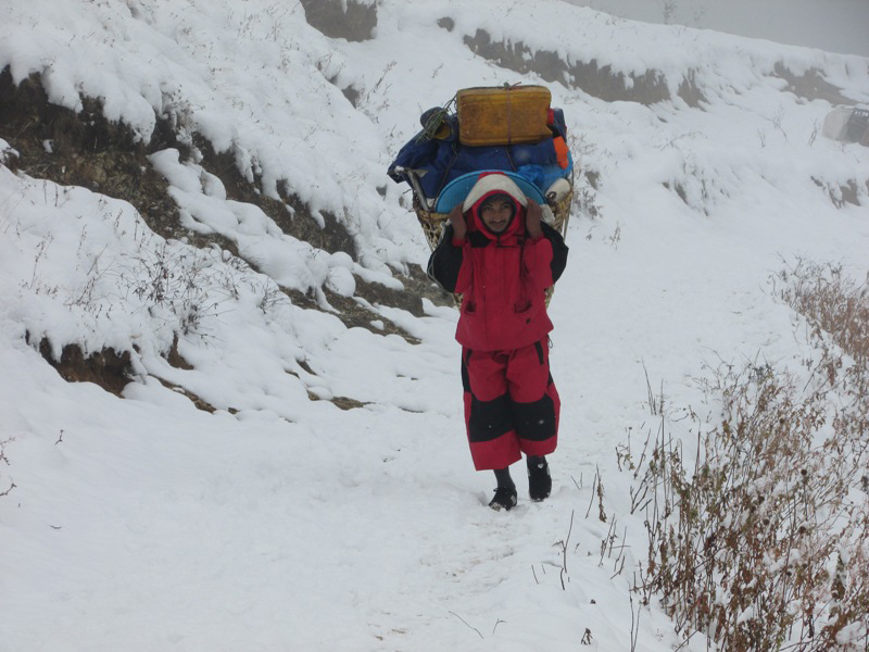 Snowfall affects life in Karnali (With photos)