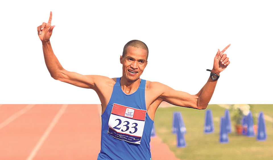 Bogati causes disbelief as he wins Nepal's first marathon gold since 1995