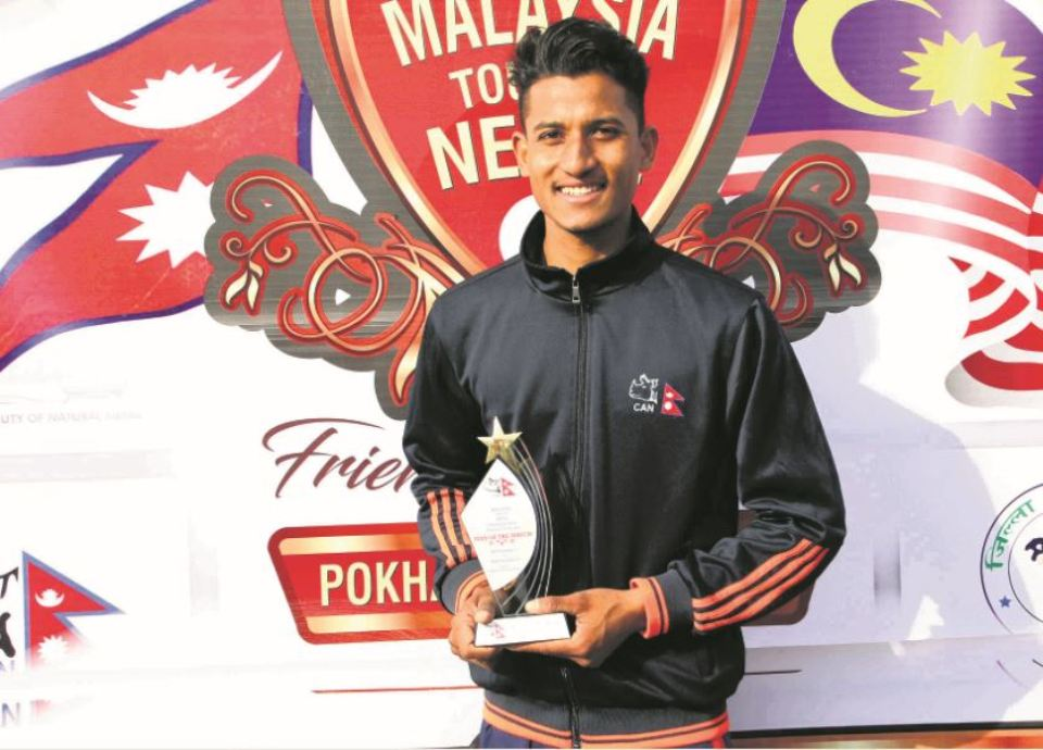 Mahato shines with ball in 172-run win
