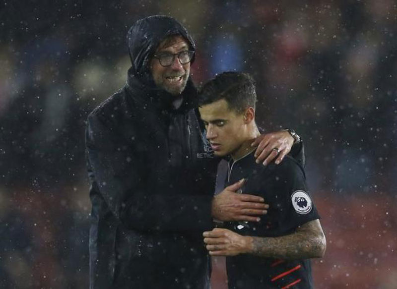 Klopp won't rush back improving Coutinho