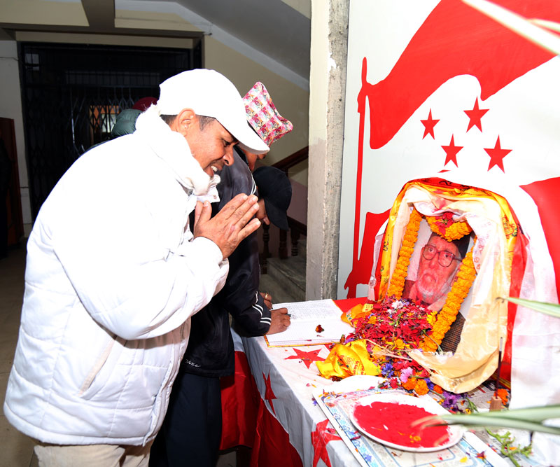 NC pays tribute to late leader Sushil Koirala