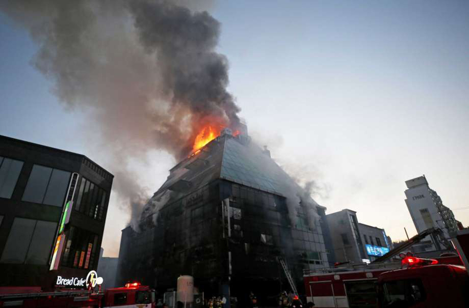 28 die, 26 injured in South Korean building fire