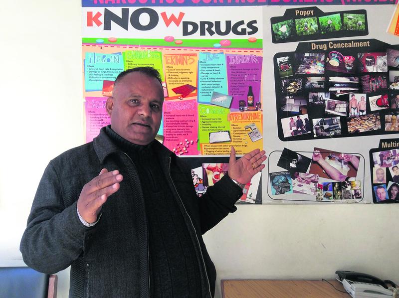 Anti-narcotics veteran Paneru is addicted to his job