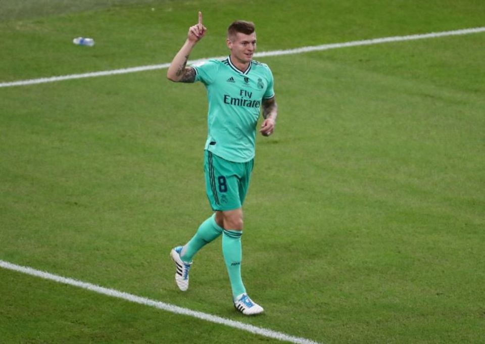 Quick-thinking Kroos helps Real to Super Cup final