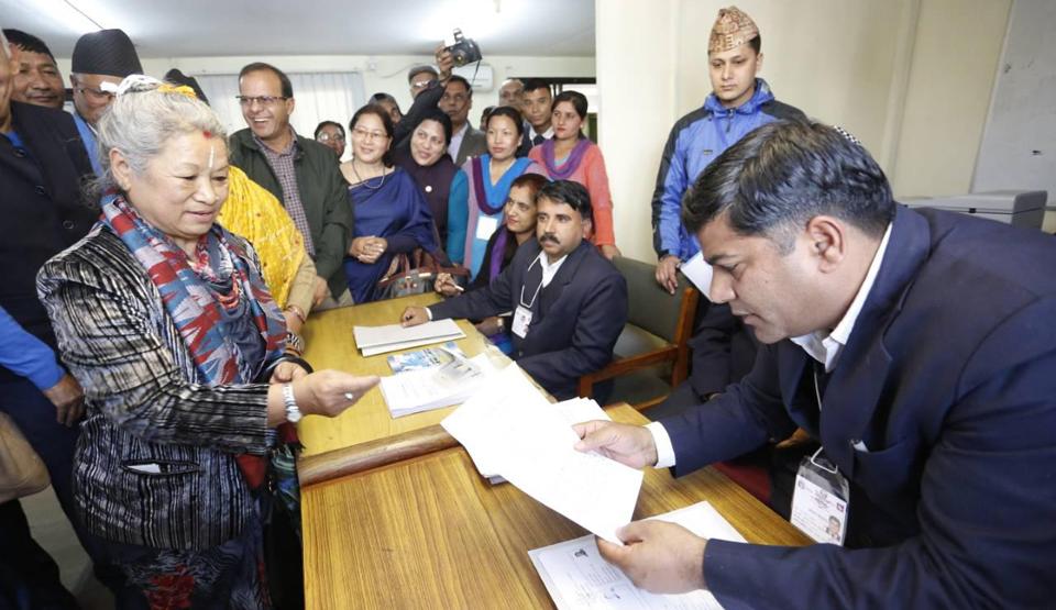 Kumari Laxmi Rai files candidacy for Prez from NC