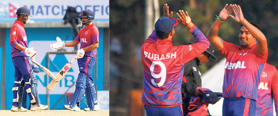 KC emerges as leader of the bowling attack; 'Brave' Kushal Malla