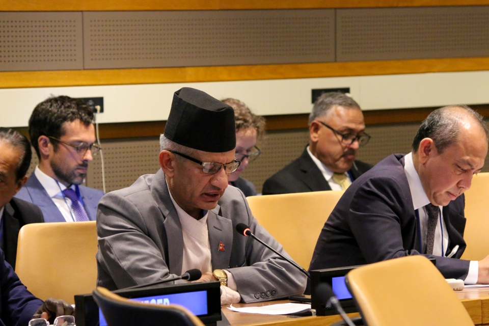Nepali delegation to 74th UNGA participates in series of meetings in New York