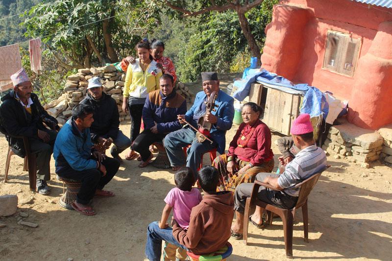 Relentless Gandharba, 71, supporting nine-member family playing sarangi