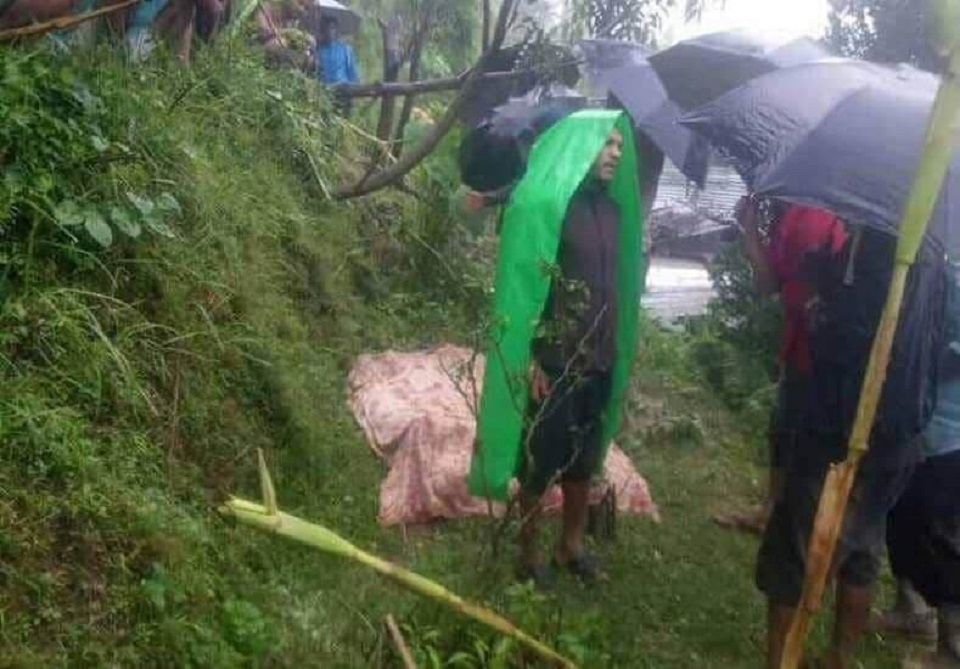Landslide kills three of a family in Dhading
