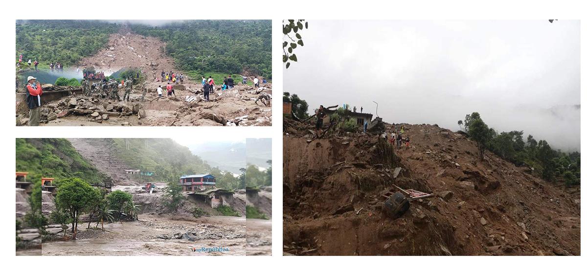 Sindhupalchowk devastated by landslides and floods