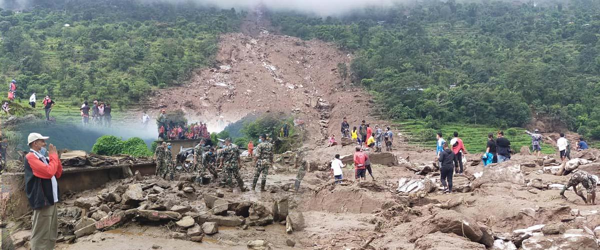 UPDATE: Death toll in Sindhupalchowk landslide climbs to nine, 22 still missing