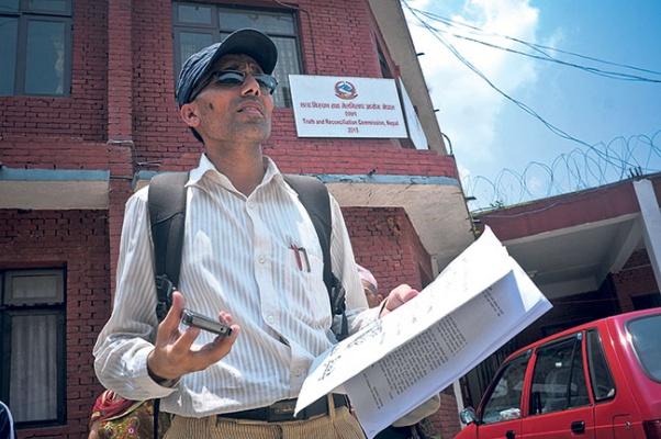 Family of murdered teacher Muktinath Adhikari files complaint at TRC