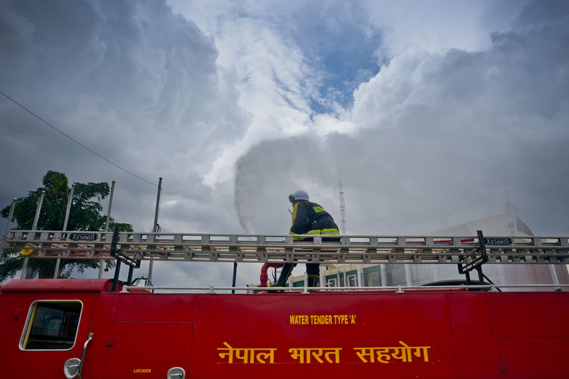 India gifts Nepal 17 fire engines