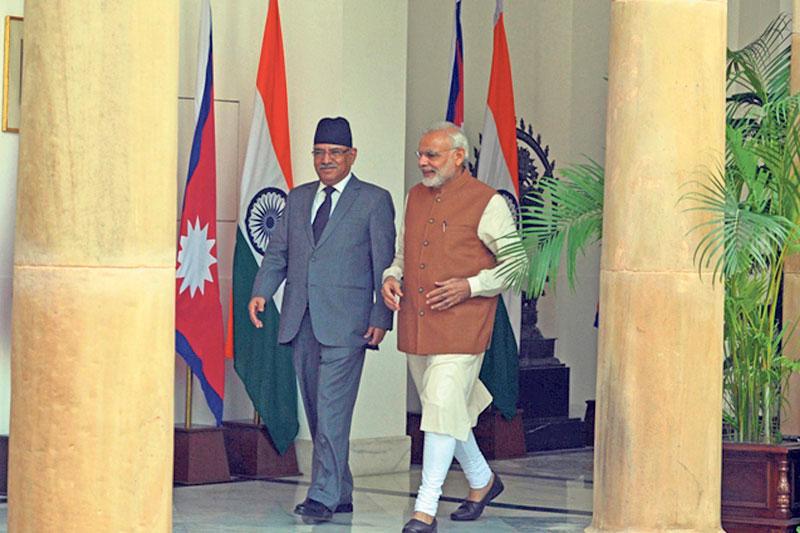 PM Dahal inspects Shimla based Nathpa-Jhakri hydropower