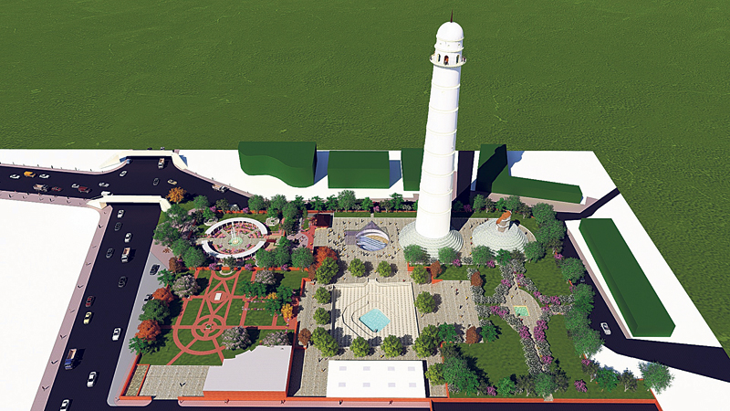 Govt unveils design for new Dharahara